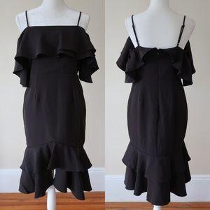 Forever21 Off-the-Shoulder Midi Dress, Size L